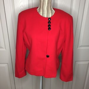 Christian Dior red worsted wool blazer
